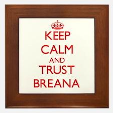 Keep Calm and TRUST Breana Framed Tile