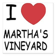 "MARTHAS_VINEYARD Square Car Magnet 3"" x 3"""