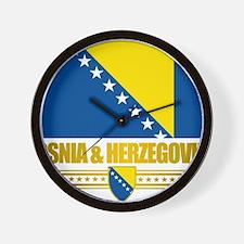 BosniaHerzegovina (Flag 10)2 Wall Clock