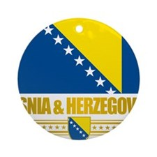 BosniaHerzegovina (Flag 10)2 Round Ornament