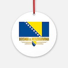 BosniaHerzegovina (Flag 10)2 Round Ornament