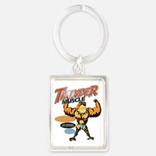 tHUNDER MUSCLE FRONT Portrait Keychain