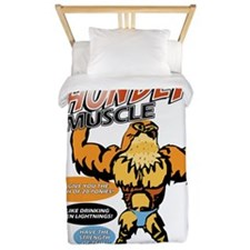 tHUNDER MUSCLE FRONT Twin Duvet