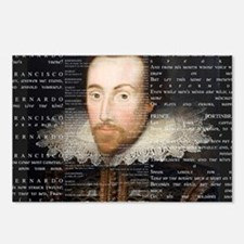 shakespeare banner Postcards (Package of 8)