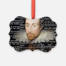 shakespeare banner Ornament