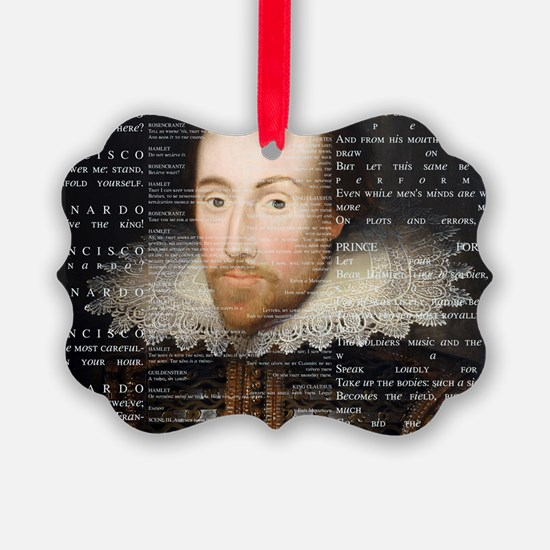 shakespeare banner Ornament