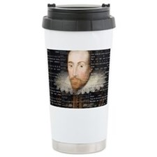 shakespeare banner Travel Coffee Mug