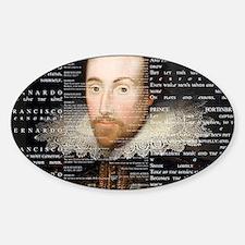 shakespeare banner Sticker (Oval)