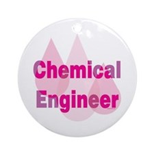 Pink Chemical Engineer Ornament (Round)