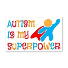 Autism is my Superpower Rectangle Car Magnet
