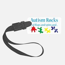 Autism rocks Luggage Tag
