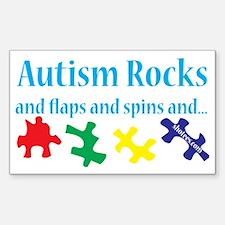 Autism rocks Decal