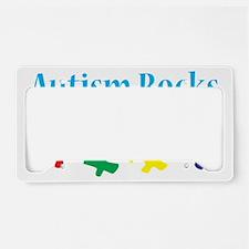 Autism rocks License Plate Holder