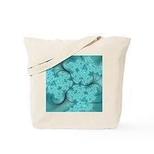 teal feather fractal art Tote Bag