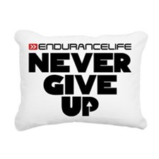 Never Give Up Centered L Rectangular Canvas Pillow