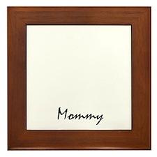 schipperke mom property white Framed Tile