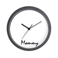 rottweiler mom property white Wall Clock