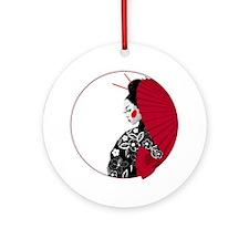 geishatshirt Round Ornament
