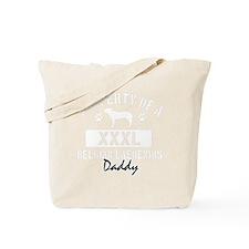 belgian lakeanois dad property white Tote Bag