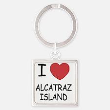 ALCATRAZ_ISLAND Square Keychain