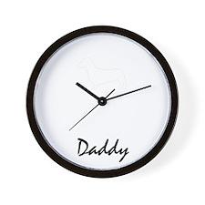 daschund property white Wall Clock