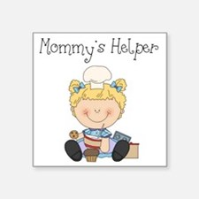 """mommys helper cooking Square Sticker 3"""" x 3"""""""