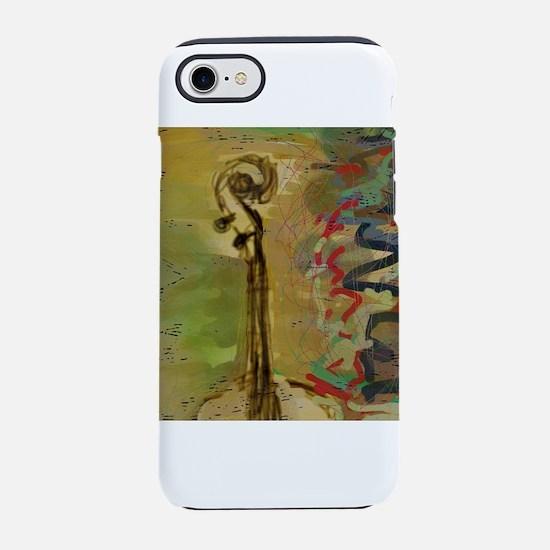 AbstractCelloScroll iPhone 7 Tough Case