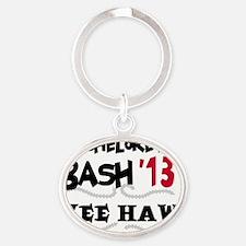 13yeehawbachbac Oval Keychain