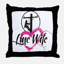 high voltage line wife front white sh Throw Pillow