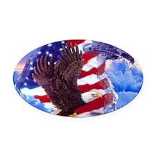 eagle Oval Car Magnet