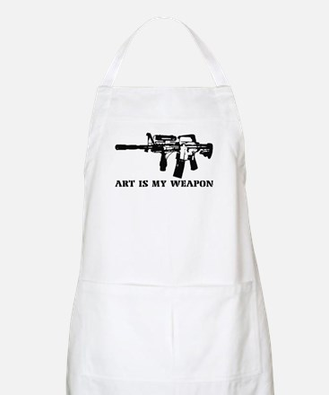 ART IS MY WEAPON BBQ Apron
