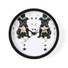 staffie flip flops 2 Wall Clock