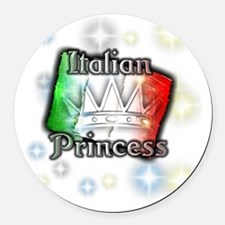 italianprincess Round Car Magnet