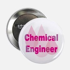 """Pink Chemical Engineer 2.25"""" Button"""