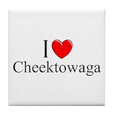 """I Love Cheektowaga"" Tile Coaster"