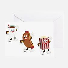 soda hotdog popcorn Greeting Card
