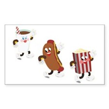soda hotdog popcorn Decal