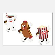 soda hotdog popcorn Postcards (Package of 8)