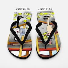 6100_inspection_cartoon Flip Flops