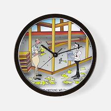 6100_inspection_cartoon Wall Clock