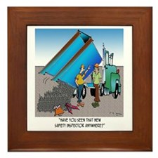 8153_safety_cartoon Framed Tile