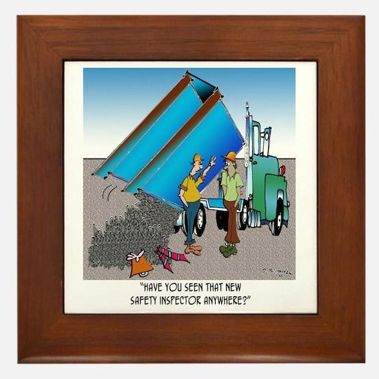 8153_safety_cartoon Framed Tile