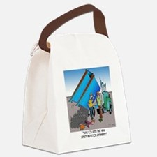 8153_safety_cartoon Canvas Lunch Bag