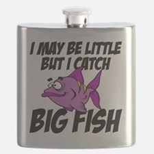 i may be little but I catch big fish Flask