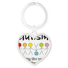 autism angle Heart Keychain