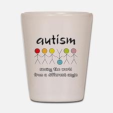 autism angle Shot Glass