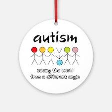 autism angle Round Ornament