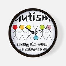 autism angle Wall Clock