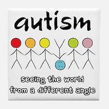 autism angle Tile Coaster