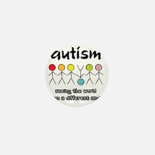 autism angle Mini Button